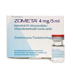 Koncentratas Zometa 4 mg / 5 ml